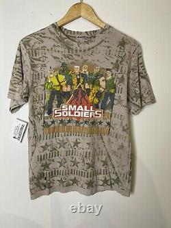 Vintage Small Soldiers T Shirt All Over Tie Dye Movie 1998 Medium