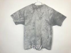 Vintage Star Wars Boba Fett Tee T Shirt Sz L Tie dye Liquid Blue Made In US Rare