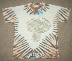 Vintage The Allman Brothers Band All Over Print Tie Dye 1995 Tour T-Shirt Large