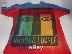 Vintage The Rolling Stones Voodoo Lounge Tour 1994 Tie Dye T-Shirt Sz 2XL XXL