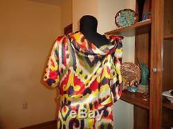 Vivienne Westwood Red Label Multicolor Silk Ikat African Tie-dye Dress-l, 14-uk
