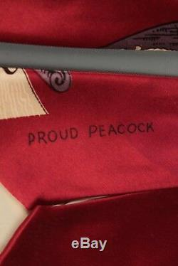 Vtg 1940s Salvador Dali Proud Peacock Necktie 40s Rayon Tie #5302t