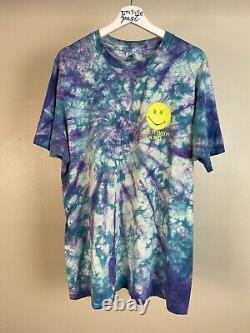 Vtg 93 Dazed and Confused movie stoner weed 80s tie dye shirt xl smiley artwork