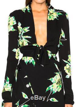 WOW! New Tags Proenza Schouler tie front floral blouse $850 sz 0