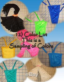 Wholesale Lot 12 Tie String or with Clip Thong Gstring Stripper Club Costumelady