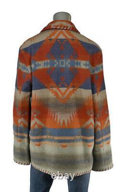 Women's Ralph Lauren Polo Southwestern Indian Concho Wool Jacket Coat New $698