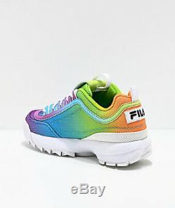 Womens Fila Disruptor II Tie Dye Multi Rainbow Athletic Shoe NEW 2