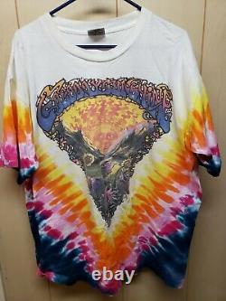 XL VINTAGE GRATEFUL DEAD T Shirt GOOD DAY SUNSHINE Eye Dye, Tie Dye VERY ROOMY