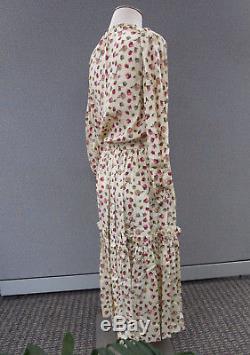 Yves Saint Laurent Rive Gauche Bow Tie Silk Separates Pencil Skirt Set -Size 38