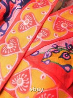 ZIMMERMANN Lovestruck Mini Long Sleeve Wrap YellowithMulticolor Dress Size 0 NWTG