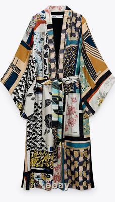 Zara Woman Nwt Ss21 Patchwork Kimono Limited Edition All Sizes 2866/128