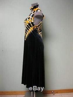 $ 1250 Proenza Schouler Nouveau Jaune Noir Blanc Tie Dye Robe À Col Roulé Jersey S