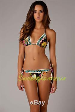 155 $ Trina Turk Nandini - Maillot De Bain Bikini À 2 Côtés Avec Triangle Et Cravate