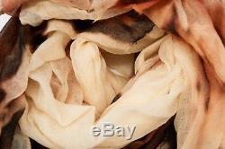 1675 $ Brunello Cucinelli Écharpe Souple 100% Cachemire Brillante Imprimé Tie-dye A176