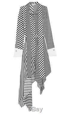 $ 1695 Monse Nwt - Cravate En Sergé De Soie À Rayures Et À Rayures