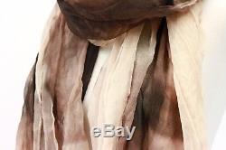 1745 $ Brunello Cucinelli Écharpe Légère Florale Tie-dye 100% Cachemire A181
