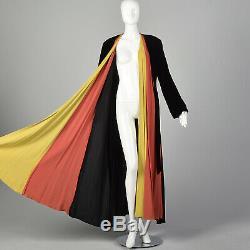 1940 Robe De Chambre Velours Couleur Bloc Robe 40s Vintage Vtg D'hiver Coloré