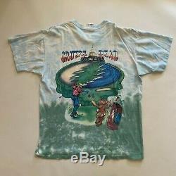1994 Grateful Dead Golf Liquid Blue Tie Dye T-shirt 90s Vintage Vtg