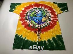 1996 Vintage Liquid Blue Grateful Dead Lituanie De Basket-ball Tie Dye Shirt XL Sz