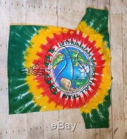 1996 Vtg Liquid Blue Grateful Dead Lituanie De Basket-ball Tie Dye Shirt XL Sz Défaut