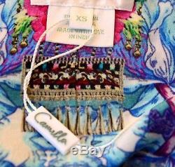 2017 Camilla Franks Dimanche Meilleur Cravate Avant Cristal Agrémentée Caftan Robe 1 Xs
