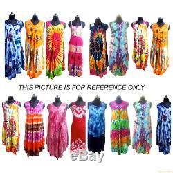 20pc Deal Robes Indiennes Multi-couleurs Tie Dye Occasionnels Sundress Robes De Plage D'usure