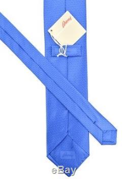 230 $ Nwt Brioni Ocean Blue Disn 010211 Cravate En Soie Tissée À La Vague Abstraite 3.25