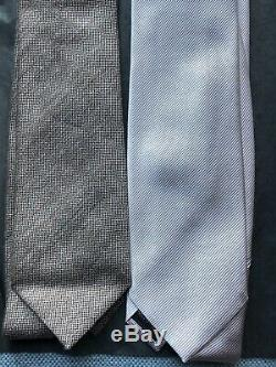 4 Tom Ford Cravates En Soie, Cachemire, Laine Et Lin Inclus Excellent Etat