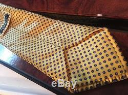 460 $ Opulent Nwot Cravate Plissée 100% Soie Stefano Ricci 3,5 '' X 62 '