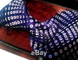 460 $ Opulent Nwot Cravate Plissée 100% Soie Stefano Ricci 3,75 '' X 62 '