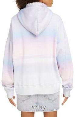 495 $ Isabel Marant Etoile Logo Tie Dye Sweat À Capuche Sz 38 Petit Nouveau