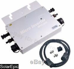 600w Étanche Grille Tie Inverter Dc22-50v À Ac110 / 220v Onduleur À Onde Sinusoïdale Pure