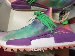 Adidas Pw Hu Holi Nmd MC Race Humaine Craie Corail Tie Dye Ac7034 Pharrell Sz 10 Us