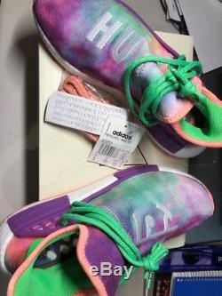 Adidas Pw Hu Holi Nmd MC Race Humaine Craie Corail Tie Dye Ac7034 Pharrell Sz 8 Us