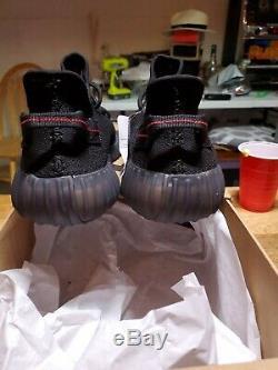 Adidas Yeezy Boost 350 V2 Black Red Bred 11.5