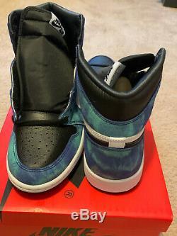 Air Jordan 1 Haute Og Wmns Taille Tie-dye 10.5 Femmes Taille 9 Hommes