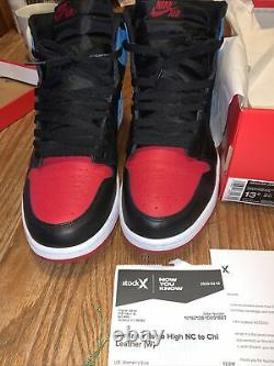 Air Jordan 1 Rétro High Og Wmns 13.5/mens 12 Cd0461046 Noir/dk Powder Blue/red