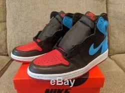 Air Jordan Retro 1 Unc Chi Chicago Haut Nike Hommes Taille 9 Femmes Taille 10.5