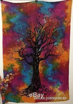 Aléatoire 24 En Vrac En Gros Lot Double Tapisserie Coton Tenture Multi Tie-dye Art