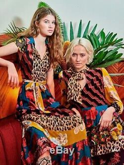 Alice Et Olivia Della Maxi Robe Nouée À La Taille Size2 795 $ Tn-o