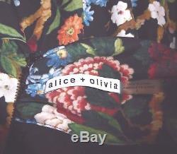 Alice + Olivia Breann Floral Tie Neck, Robe À Volants, Sz 6, Nouveau