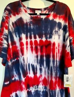 American Dreams Cravate Dye Lularoe Licorne Maria 3xl XXXL Htf
