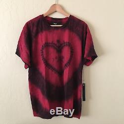 Amiri Tie Dye Heart Lovers T-shirt Rouge Tee Sz Grand USA Made Mtssthrt $ 325 Nouveau