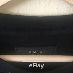Amiri Tie Dye Rayé Noir Blanc T-shirt Tee Sz XXL Fabriqué Aux États-unis Mtssttds Nouveau
