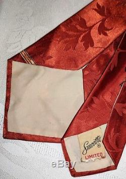 Années 1940, 40, 1950, Rare Smoking Wolf Smoothie Limité, Cravate De Rangement Risque Cravat
