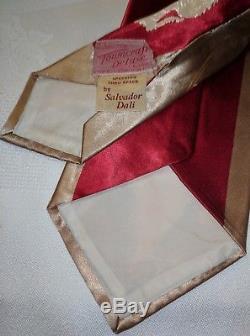 Années 1940 Années 1940 Années 1950 Rare Salvador Dali'speeding Thru Space 'towncraft Deluxe Tie