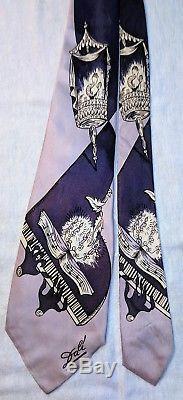 Années 1940 Années 40 Années 50 Rare Salvador Dali Crescendo Pilgrim Cravats Music Piano Tie