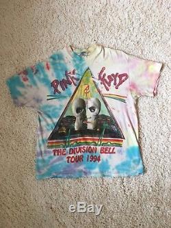 Années 90 Vintage 1994 Rose Floyd Division Bell Concert Tour Tie-dye Rock Tee-shirt