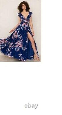 Anthropologie Yumi Kim Full Bloom Botanical Garden Wrap Maxi Robe Taille Xs 288 $