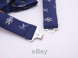 Auth Louis Vuitton Noeud Papillon De L'espace Extra-atmosphérique Bleu Marine / Multicouleur 100% Soie E41277
